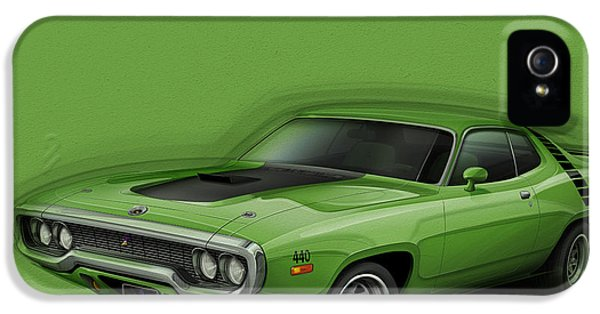 Plymouth Roadrunner 1972 IPhone 5 / 5s Case by Etienne Carignan