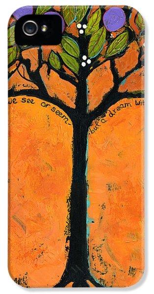 Tangerine iPhone 5 Cases - Poe Tree Art iPhone 5 Case by Blenda Studio