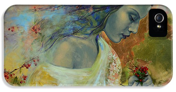 Fairies iPhone 5 Cases - Poem at Twilight iPhone 5 Case by Dorina  Costras