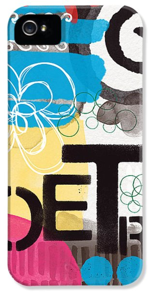 House Art iPhone 5 Cases - Poetry- Contemporary Abstract Painting iPhone 5 Case by Linda Woods