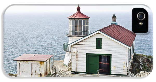 Foghorn iPhone 5 Cases - Point Reyes Lighthouse iPhone 5 Case by Priya Ghose