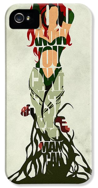 Character iPhone 5 Cases - Poison Ivy iPhone 5 Case by Ayse Deniz