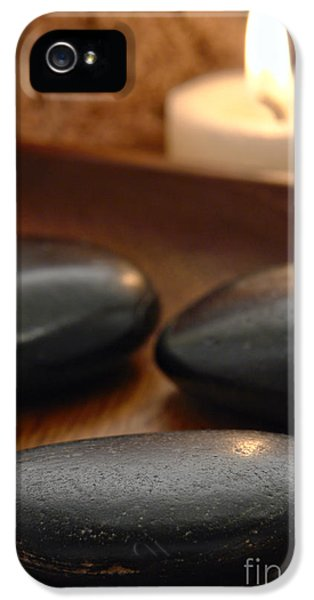 Stone iPhone 5 Cases - Polished Stones in a Spa iPhone 5 Case by Olivier Le Queinec
