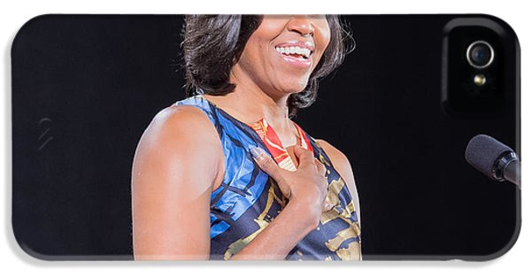 Michelle Obama iPhone 5 Cases - Political Ralley iPhone 5 Case by Ava Reaves