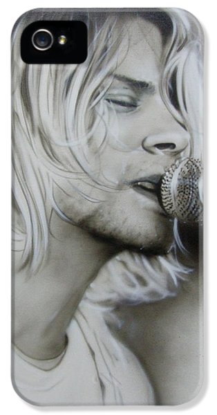 Kurt Cobain iPhone 5 Cases - Polly iPhone 5 Case by Christian Chapman Art