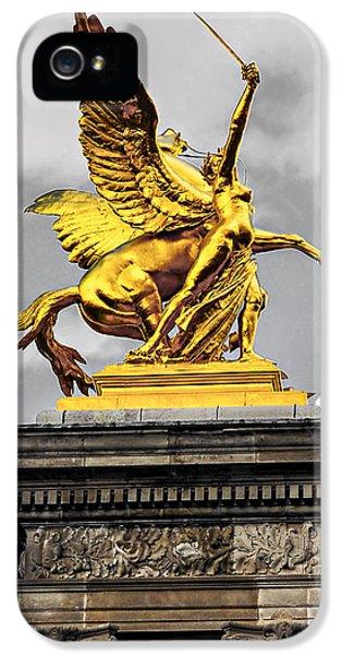Pont Alexander IIi Fragment In Paris IPhone 5 / 5s Case by Elena Elisseeva