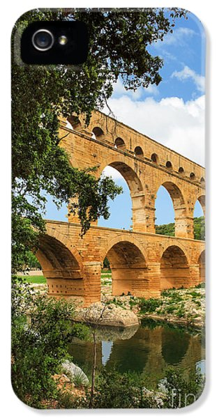 Archeology iPhone 5 Cases - Pont du Gard iPhone 5 Case by Inge Johnsson