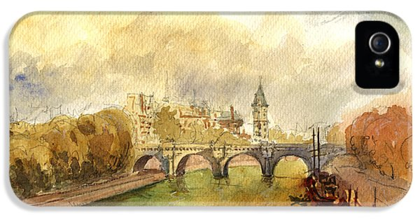 Ponte Neuf Paris IPhone 5 / 5s Case by Juan  Bosco