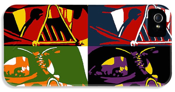 Film iPhone 5 Cases - Pop Art Vader iPhone 5 Case by Dale Loos Jr
