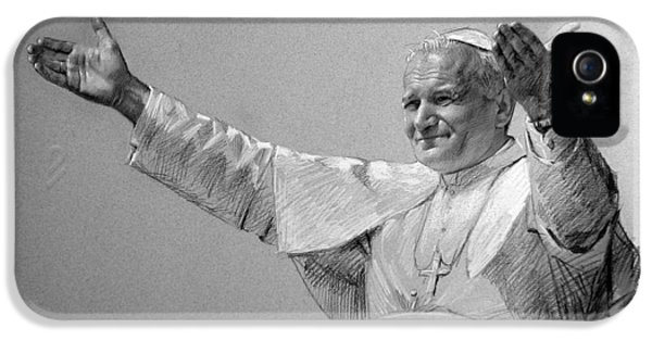 Pope John Paul II Bw IPhone 5 / 5s Case by Ylli Haruni