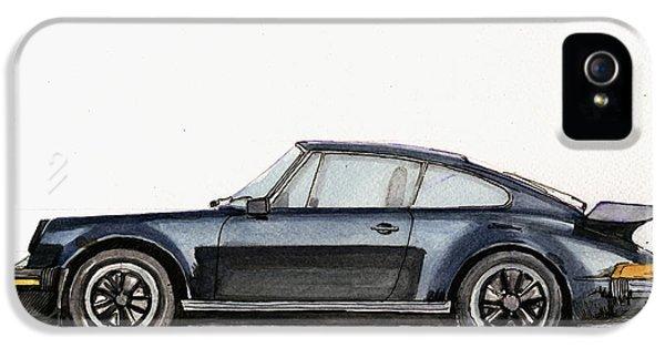 Porsche 911 iPhone 5 Cases - Porsche 911 930 turbo iPhone 5 Case by Juan  Bosco