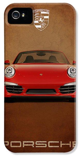Porsche 911 iPhone 5 Cases - Porsche 911 Carrera iPhone 5 Case by Mark Rogan
