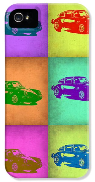 German Classic Cars iPhone 5 Cases - Porsche 911 Pop Art 2 iPhone 5 Case by Naxart Studio