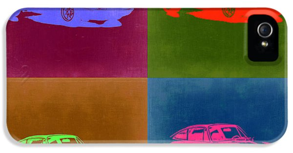 German Classic Cars iPhone 5 Cases - Porsche 911 Pop Art 3 iPhone 5 Case by Naxart Studio