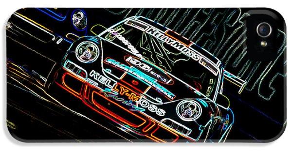 Sport iPhone 5 Cases - Porsche 911 Racing iPhone 5 Case by Sebastian Musial