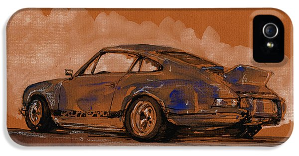 Original Porsche 911 iPhone 5 Cases - Porsche 911 RS classic iPhone 5 Case by Juan  Bosco