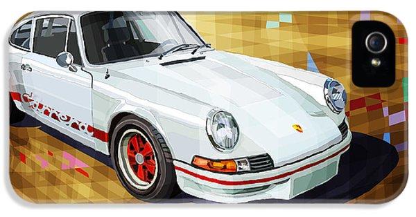 Classic Porsche 911 iPhone 5 Cases - Porsche 911 RS iPhone 5 Case by Yuriy Shevchuk