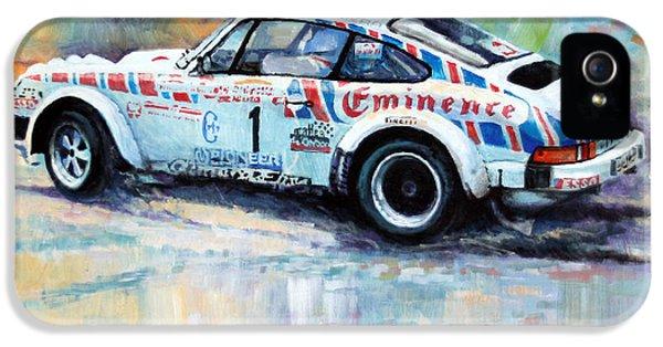 Porsche 911 iPhone 5 Cases - Porsche 911 SC  Rallye Sanremo 1981 iPhone 5 Case by Yuriy Shevchuk
