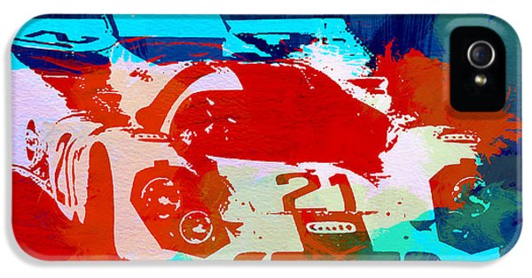 German Classic Cars iPhone 5 Cases - Porsche 917 Racing 1 iPhone 5 Case by Naxart Studio