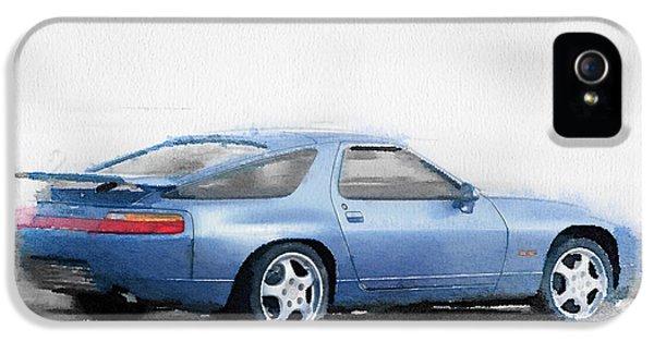 Porsche 928 Watercolor IPhone 5 / 5s Case by Naxart Studio