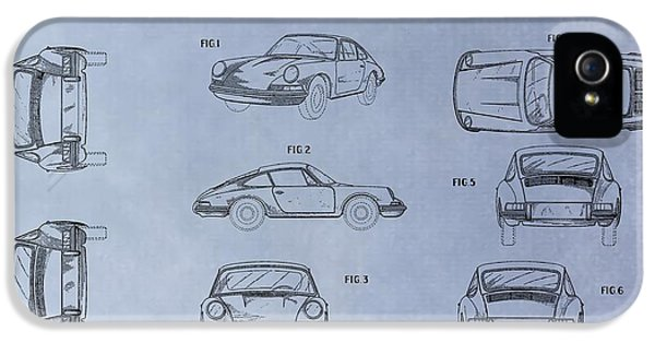 Original Porsche 911 iPhone 5 Cases - Porsche Patent iPhone 5 Case by Dan Sproul