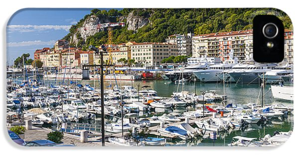 Harborfront iPhone 5 Cases - Port of Nice in France iPhone 5 Case by Elena Elisseeva