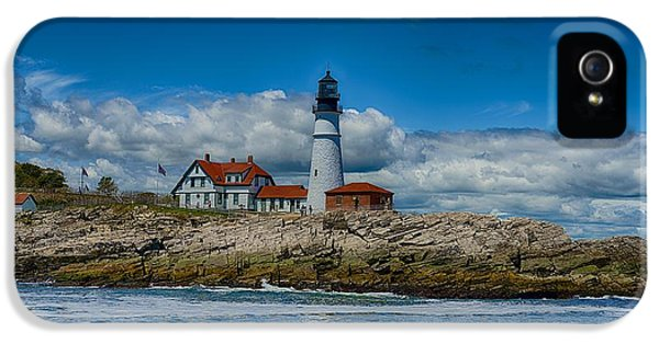 Foghorn iPhone 5 Cases - Portland Head Lighthouse iPhone 5 Case by Douglas Perry