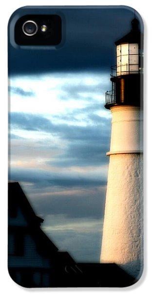 Foghorn iPhone 5 Cases - Portland Head Lighthouse iPhone 5 Case by Paul Szakacs