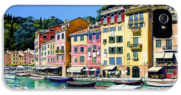 Harbour iPhone 5 Cases - Portofino Sunshine SOLD iPhone 5 Case by Michael Swanson