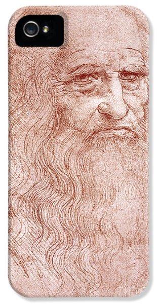 Portrait Of A Bearded Man IPhone 5 / 5s Case by Leonardo da Vinci