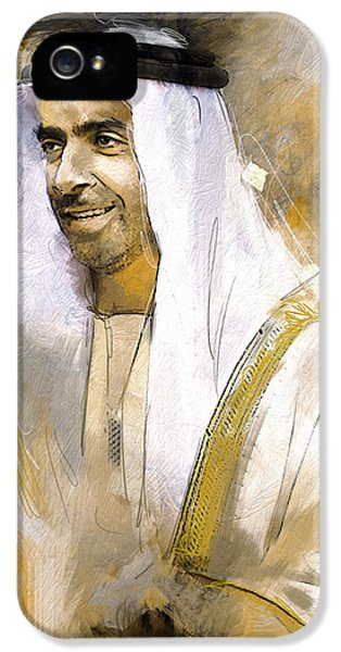 Chairman iPhone 5 Cases - Portrait of Abdullah bin Zayed Al Nahyen 3 iPhone 5 Case by Maryam Mughal
