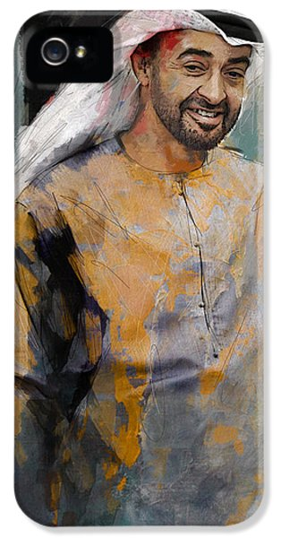 Chairman iPhone 5 Cases - Portrait of Abdullah bin Zayed Al Nahyen 5 iPhone 5 Case by Maryam Mughal