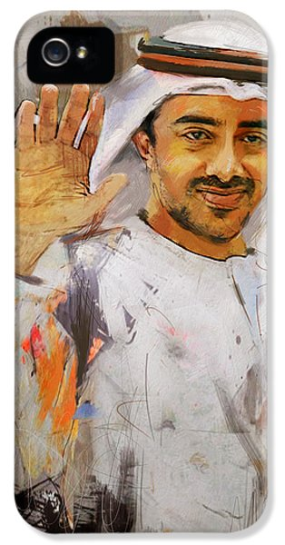 Chairman iPhone 5 Cases - Portrait of Abdullah bin Zayed Al Nahyen  iPhone 5 Case by Maryam Mughal