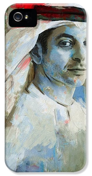 Chairman iPhone 5 Cases - Portrait of Ahmed bin Zayed Al Nahyan iPhone 5 Case by Maryam Mughal