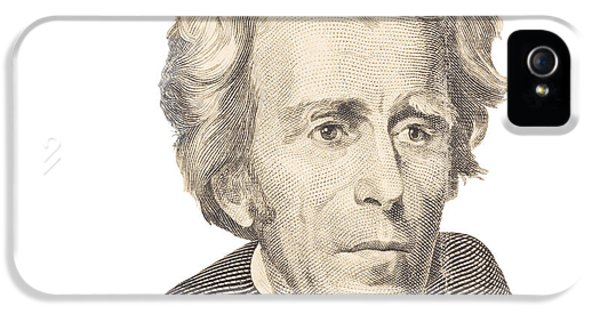20 iPhone 5 Cases - Portrait of Andrew Jackson on White Background iPhone 5 Case by Keith Webber Jr