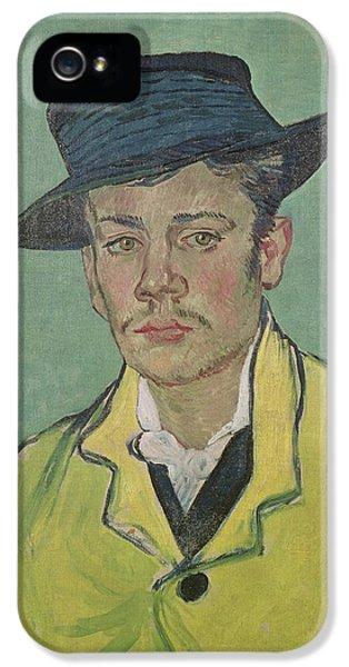Hat iPhone 5 Cases - Portrait of Armand Roulin iPhone 5 Case by Vincent Van Gogh