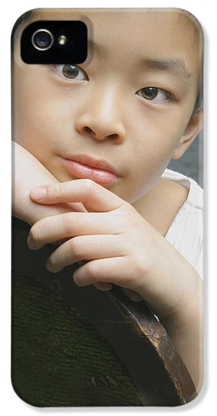 Boys Only iPhone 5 Cases - Portrait Of Asian Boy iPhone 5 Case by Ross Germaniuk
