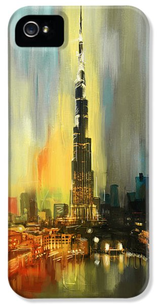 Heritage iPhone 5 Cases - Portrait of Burj Khalifa iPhone 5 Case by Corporate Art Task Force