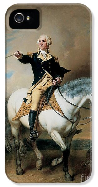 Riding iPhone 5 Cases - Portrait of George Washington Taking The Salute At Trenton iPhone 5 Case by John Faed