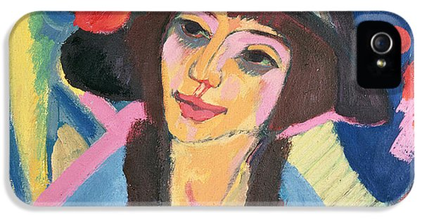 Hat iPhone 5 Cases - Portrait of Gerda iPhone 5 Case by Ernst Ludwig Kirchner