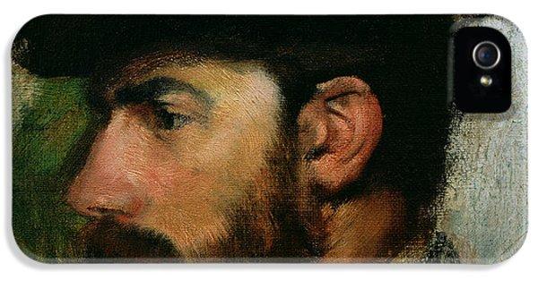 Bowler iPhone 5 Cases - Portrait of Henri Rouart iPhone 5 Case by Edgar Degas