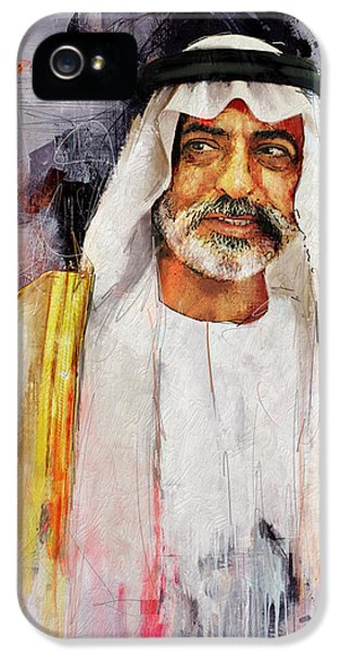 Chairman iPhone 5 Cases - Portrait of Nahyan bin Mubarak Al Nahyan iPhone 5 Case by Maryam Mughal