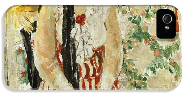 Wife iPhone 5 Cases - Portrait of Nel Wouters iPhone 5 Case by Rik Wouters