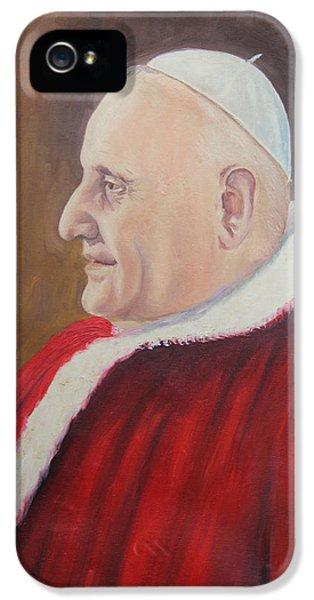 Portrait Of Pope John Xxiii - Papa Giovanni Xxiii IPhone 5 / 5s Case by Mario Zampedroni