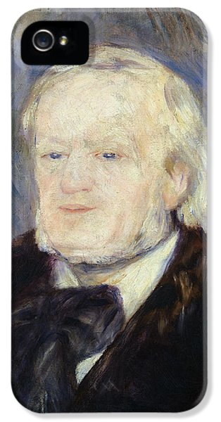 Composer iPhone 5 Cases - Portrait of Richard Wagner iPhone 5 Case by Pierre Auguste Renoir