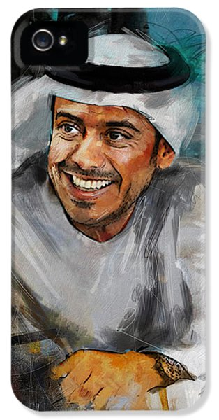 Chairman iPhone 5 Cases - Portrait of Sheikh Sultan bin Tahnoon Al Nahyan iPhone 5 Case by Maryam Mughal