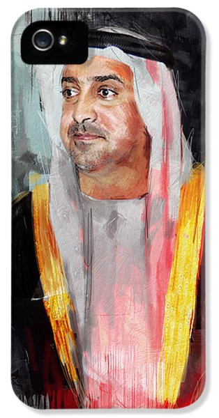 Chairman iPhone 5 Cases - Portrait of Sultan bin Khalifa al Nahyan iPhone 5 Case by Maryam Mughal