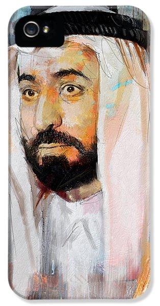 Chairman iPhone 5 Cases - Portrait of Sultan bin Mohammad al Qasimi iPhone 5 Case by Maryam Mughal