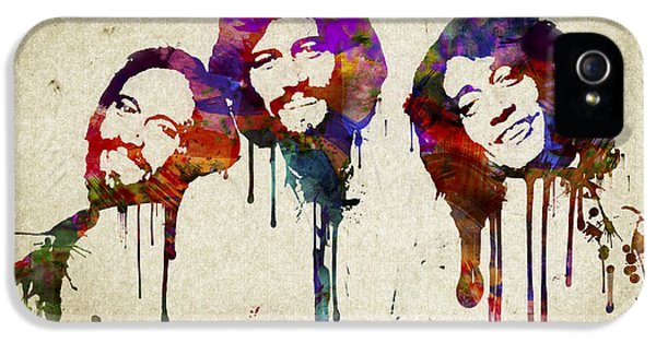 Bee iPhone 5 Cases - Portrait of the Bee Gees iPhone 5 Case by Aged Pixel