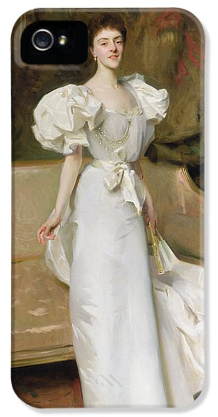 Sofa iPhone 5 Cases - Portrait of the Countess of Clary Aldringen iPhone 5 Case by John Singer Sargent